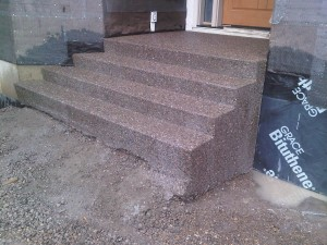 Exposed Concrete Steps Calgary