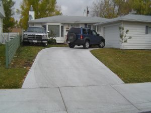 Broomed Concrete Driveway Calgary